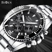 jam tangan Biden pria Luxury bisnis waterproof stainless steel band