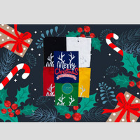 Kaos Katun Combed 24s Unisex Premium Natal Seri Merry Christmas #1 - Putih, S