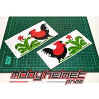 Sticker Rooster. Chicken - Sticker Helm