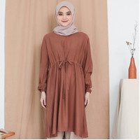 EVONNE Valva Basic Tunic Brown Oversize Pattern LD120 E11-12