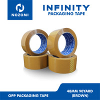 LAKBAN COKLAT BESAR / NOZOMI INFINITY OPP TAPE 48MM x 90 YARD