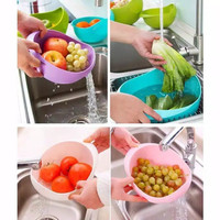 Saringan Wadah Cuci Beras Sayur Buah
