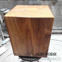 Kursi Jati Solid Kotak, Stool Solid Teak Wood, Stump, Bangku Taman