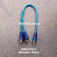 Kabel Rca Y / Kabel Rca 2 Female ke 1 Male Jack Audio Jumper
