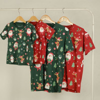 Pop Kidswear Jolly XMas Couple Tee - Kaos Natal Keluarga