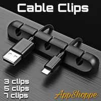 Cable Organizer KABEL Management Clip System Silicone 1/3/5/7 Slots