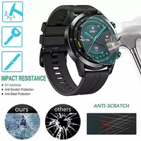 ANTI GORES SCREEN PROTECTOR TEMPERED GLASS HUAWEI GT 2 46mm SMARTWATCH