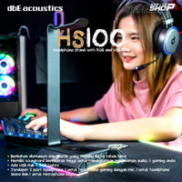 dbE HS100 7.1 Virtual Surround Headphone Stand with RGB and USB HUB