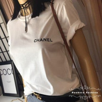 Kaos Baju Combed Distro CHANEL polos custom indonesia