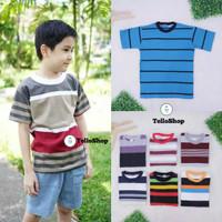 Kaos Salur Anak uk 10-12 Tahun / Baju Salur uk Tanggung Laki Remaja