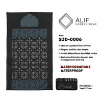 Sajadah Saku Anti Air | Sajadah Travel Lipat Alif Modern Wear SJD-0006