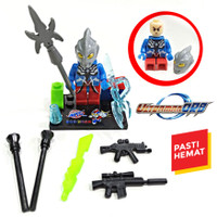 BRICKS ULTRAMAN ACTION FIGURE INCLUDE MANY WEAPON LEGO BRICK SUPERHERO