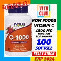 Now Foods Vitamin C 1000 mg - 100 vegan kapsul
