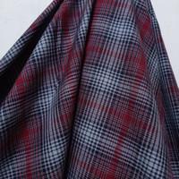 Kain Kotak Semi Wool ( Motif Abstrak Merah Maroon )