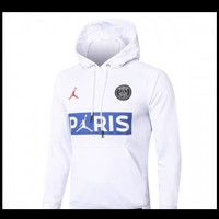 Jaket HOODiE Distro PUTiH AiR JORDAN PSG PARiS polos custom indonesia