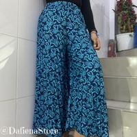 Celana Kulot Plisket Motif Premium Termurah / Pakaian Wanita Bawahan - Maron