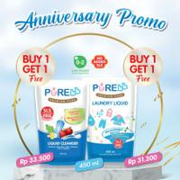 PURE BB Liquid Cleanser Pure Baby Laundry Liquid 450 ml Purebb Liquid - LAUNDRY 1GET1