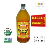 BRAGG Organic Apple Cider Vinegar 946 ml / Cuka Apel Organik