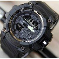 Jam Tangan Pria Anti Air Digital Led Sport Army Casio Analog G-Shock - Hitam Full