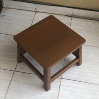meja lesehan kayu | meja pendek | meja ngaji | meja belajar kayu solid - Dengan Bubble