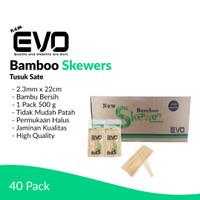 [GROSIR] Tusuk Sate NEW EVO 500 gr / 2.3mm x 22cm / 40 Pack