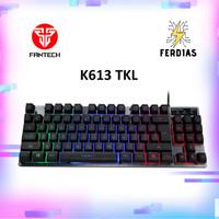 Keyboard Gaming RGB Fantech K613 TKL Ukuran Kecil Body Metal - FERDIAS