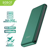 POWERBANK ROBOT 10000mAh ORIGINAL RT180 DUAL INPUT USB & TYPE-C CHARGE
