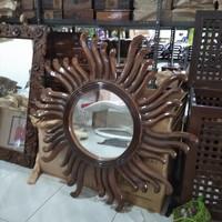 Cermin Dinding minimalis Jati