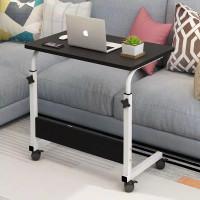 Meja Laptop Meja Roda Portable Stand Aluminium Meja Belajar Multifungs