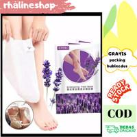 foot mask efero dengan esens lavender masker kaki
