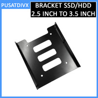 Bracket SSD HDD 2.5 Inch to 3.5 Inch Metal Converter Adapter Laptop