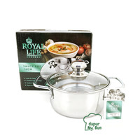 Royal Life Sauce Pot 16cm / Panci Kuping Stainless Steel Diameter 16cm