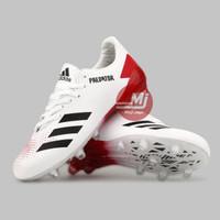 Sepatu Sepak Bola Adidas Predator 20.4 White Grade Ori Super - Putih Merah, 39