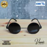 Kacamata Hitam Bulat Boboho Jhon Lenon - Hitam