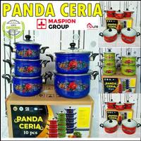 MASPION Panci Set Panda Ceria 10Pcs 16/24