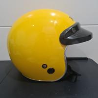 Helm RETRO MONSA JPN Kuning gloss pet list chrome