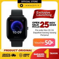 Amazfit Official Bip U Smartwatch Sport Jam Tangan Digital Smart Watch - Hitam
