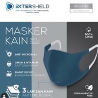 Masker Kain EXTERSHIELD 3Ply ANTIBAKTERI ( Non Medis)