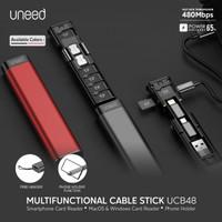 UNEED Kabel Set Multifungsi with Storage Fast Charging 65W - UCB48