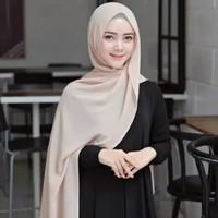 Jilbab Hijab Kerudung Pashmina Diamond Jilbab Pasmina Terbaru murah - Abu Muda
