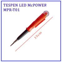 Tespen / Testpen / Obeng Tespen LED Minus 15cm + Bonus Baterai McPower