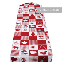 Table Runner Christmas - Taplak Meja Natal Tenun 35x175cm