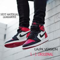 Sepatu Nike Jordan 1 High UA / PK Bred Toe, BNIB.