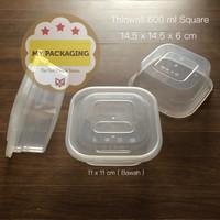 Thinwall 600 ml KOTAK / Food Container Microwave / Kotak Makan Plastik