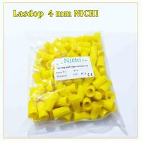 Lasdop/Las dop/Screw on wire 4 mm per pack isi 100pcs NICHI - KUNING