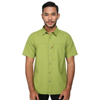KEMEJA QUICKDRY EIGER LENGAN PENDEK ELEVATION 1.0 GREEN ORIGINAL