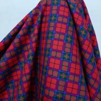 Kain Kotak Semi Wool ( Merah Biru Hijau )