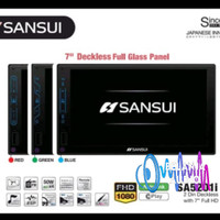 Head unit double din deckles sansui sa5201i - Biru