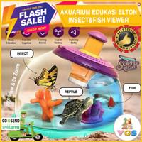 Mainan Anak Akuarium / Aquarium Edukasi Elton Insect & Fish Viewer