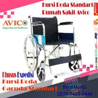 kursi roda standar rumah sakit merk avico khusus expedisi - Merah